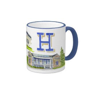 Hamilton college medley of buildings ringer coffee mug