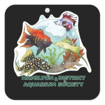Hamilton & District Aquarium Society Square Sticker