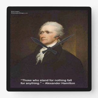 "Hamilton ""Fall For Anything"" Quote Wall Clock"