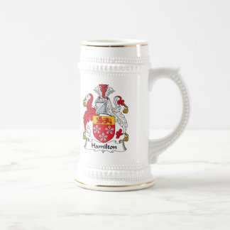 Hamilton Family Crest Beer Stein