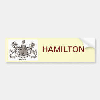 HAMILTON FAMILY CREST CAR BUMPER STICKER