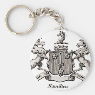 HAMILTON FAMILY CREST KEYCHAIN