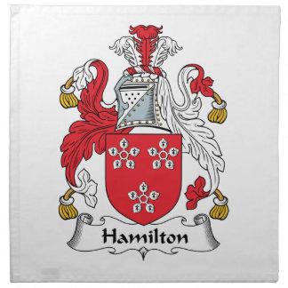 Hamilton Family Crest Napkin