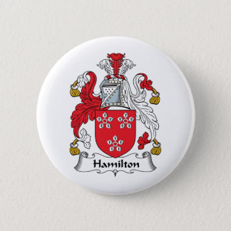 Hamilton Family Crest Pinback Button