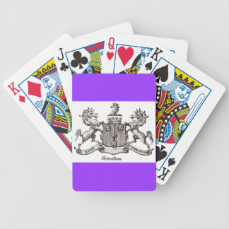 HAMILTON FAMILY CREST - PLAYING CARDS