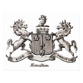 HAMILTON FAMILY CREST POSTCARD