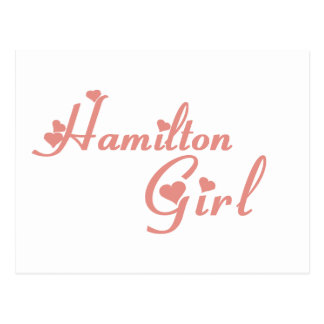 Hamilton Girl tee shirts Postcard