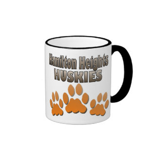 Hamilton Heights Huskie Paws Ringer Coffee Mug