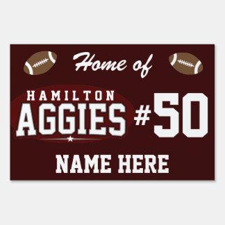 Hamilton High School; Aggies Yard Sign