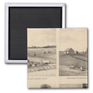 Hamilton, Landes, Yates residences, Horseshoe Farm 2 Inch Square Magnet