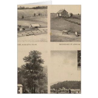 Hamilton, Landes, Yates residences, Horseshoe Farm Card