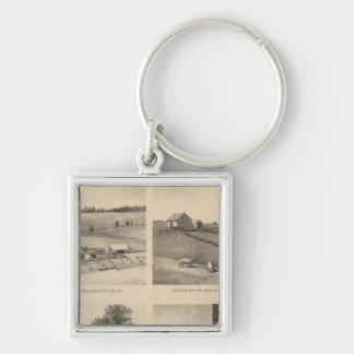 Hamilton, Landes, Yates residences, Horseshoe Farm Keychain