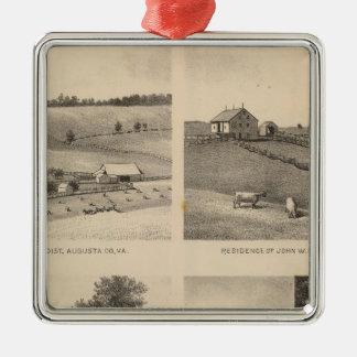 Hamilton, Landes, Yates residences, Horseshoe Farm Metal Ornament