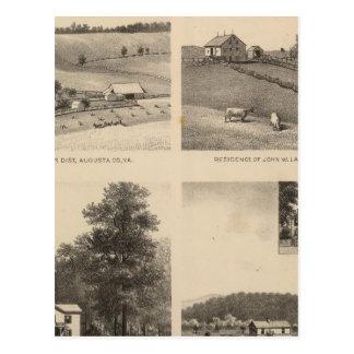 Hamilton, Landes, Yates residences, Horseshoe Farm Postcard