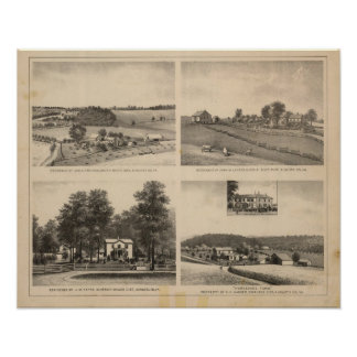 Hamilton, Landes, Yates residences, Horseshoe Farm Poster