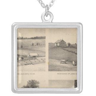 Hamilton, Landes, Yates residences, Horseshoe Farm Silver Plated Necklace