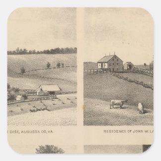 Hamilton, Landes, Yates residences, Horseshoe Farm Square Sticker