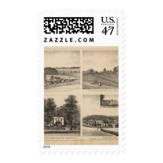 Hamilton, Landes, Yates residences, Horseshoe Farm Stamp