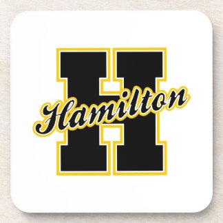 Hamilton Letter Drink Coaster