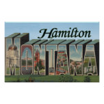 Hamilton, Montana - Large Letter Scenes Posters