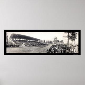 Hamilton OH Grandstand Photo 1913 Poster