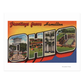 Hamilton, Ohio - Large Letter Scenes Postcard