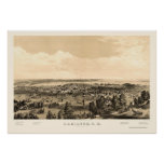 Hamilton, ON, Canada Panoramic Map - 1859 Poster