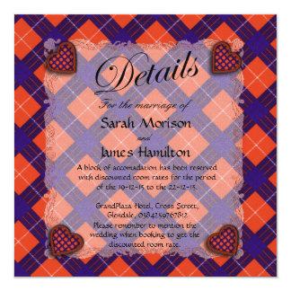Hamilton Scottish clan tartan - Plaid Card