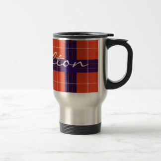 Hamilton Scottish Tartan 15 Oz Stainless Steel Travel Mug