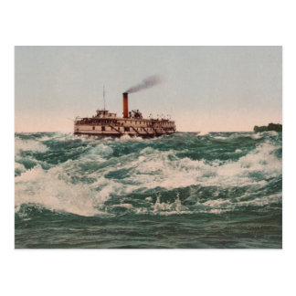 Hamilton Steamboat, Lachine Rapids near Montreal Postcard