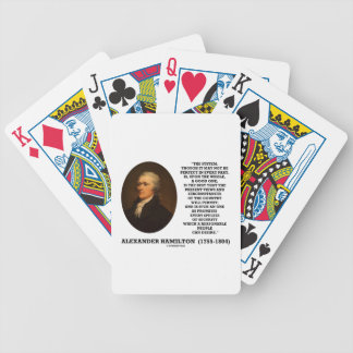 Hamilton System Not Be Perfect A Good One Quote Bicycle Playing Cards