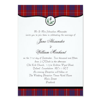 Hamilton Tartan Plaid & Thistle Wedding Invites