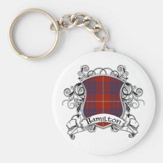 Hamilton Tartan Shield Key Chain