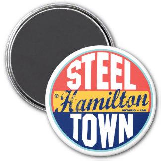 Hamilton Vintage Label 3 Inch Round Magnet