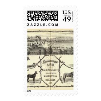 Hamiltonian Farm in Middletown, NJ Postage Stamp