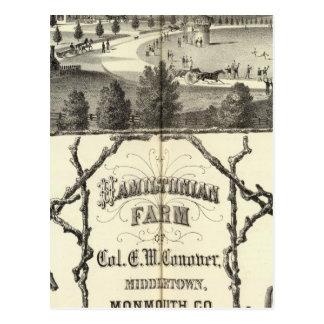 Hamiltonian Farm in Middletown, NJ Postcard