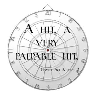 HAMLET A Hit, a Palpable Hit! Dartboard & items