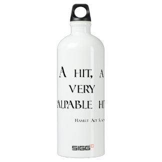 HAMLET A Hit, a Palpable Hit! Dartboard & items Aluminum Water Bottle
