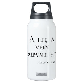 HAMLET A Hit, a Palpable Hit! Dartboard & items Insulated Water Bottle