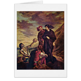 Hamlet And Horatio By Eugene Delacroix Greeting Card