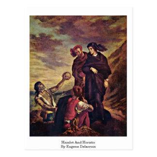 Hamlet And Horatio By Eugene Delacroix Postcard