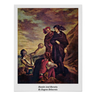 Hamlet And Horatio By Eugene Delacroix Poster