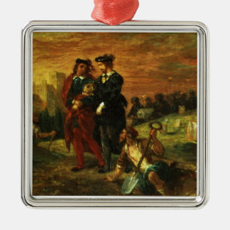 Hamlet and Horatio in the Cemetery, 1859 (oil on c Metal Ornament
