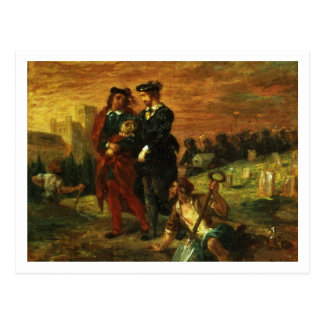 Hamlet and Horatio in the Cemetery, 1859 (oil on c Postcard
