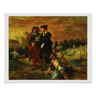 Hamlet and Horatio in the Cemetery, 1859 (oil on c Poster