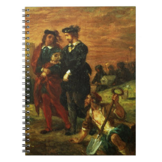 Hamlet and Horatio in the Cemetery, 1859 (oil on c Spiral Notebook