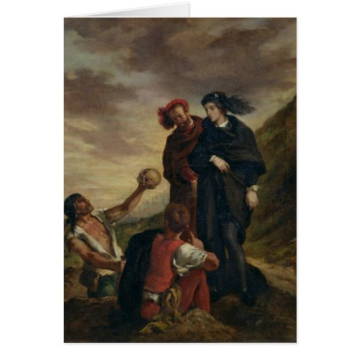 Hamlet and Horatio in the Cemetery Greeting Card