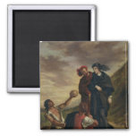 Hamlet and Horatio in the Cemetery 2 Inch Square Magnet