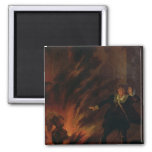 Hamlet and the Ghost of his Father 2 Inch Square Magnet