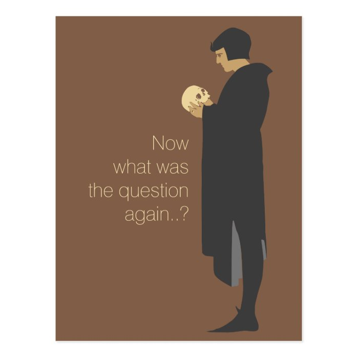 Hamlet holding a skull CC0720 Beggarstaffs Postcard